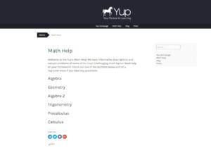 Yup Math Help